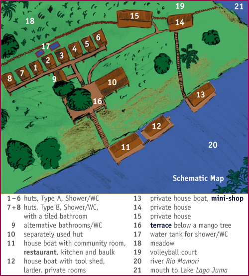 Schematic map of the lodge